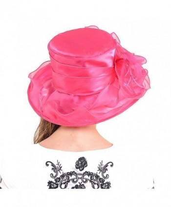 HISSHE Womens Church Wedding Pink in Women's Sun Hats