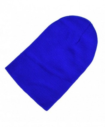 Raylarnia Comfortable Oversized Knitted Caps Royal in Men's Skullies & Beanies