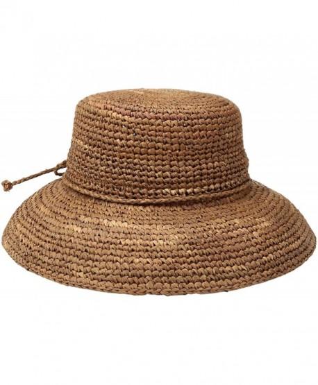 9e99773a516c75 San Diego Hat Company Women's Crochet Raffia Hat - Rust - CG115UF2CZX