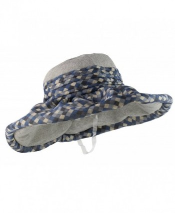 Kaisifei Outdoor UV sunscreen beach hat - blue and gray - C412DIXFU89