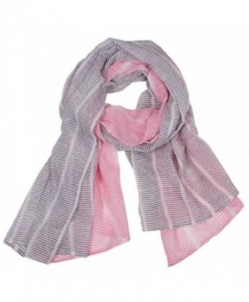 Graymarket Cotton Scarf- Eden Stripes Pink - Eden Stripes Pink - CI1287L3K8J