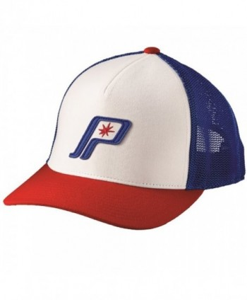 OEM Polaris Retro Adjustable Size Baseball Cap witH Mesh Back Panels Star Logo - Red/White/Blue - C318C6LNWUZ