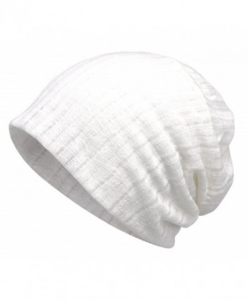 Jemis Women's Chemo Hat Beanie Scarf Liner for Turban Hat Headwear for Cancer - White - CW187DOAMD8