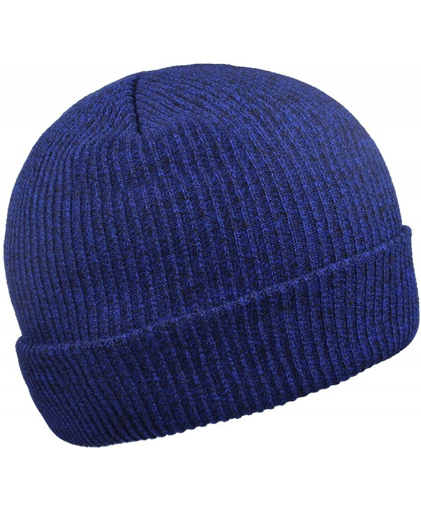Beanie Hats Stocking Cap Lightweight Knit Hat Warm Beanies for Men and Women - Royal Blue - CN187AI54Z5