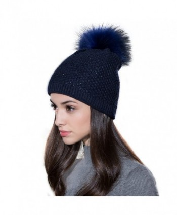 Ferand Ladies Raccoon Knitted Crystal in Women's Skullies & Beanies