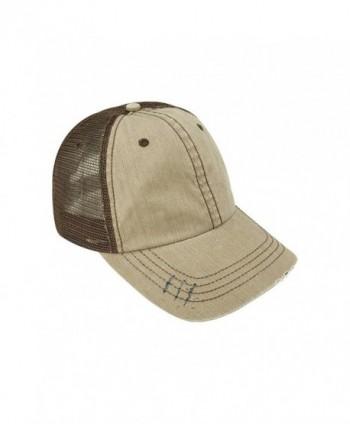 Low Profile Special Cotton Mesh Cap-Black W40S62B - Tan/Brown - CT184IEA0XW