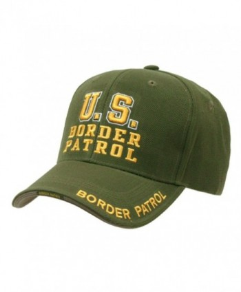 US Border Patrol Officer adjustable baseball cap green & yellow - C7112BWD0F9