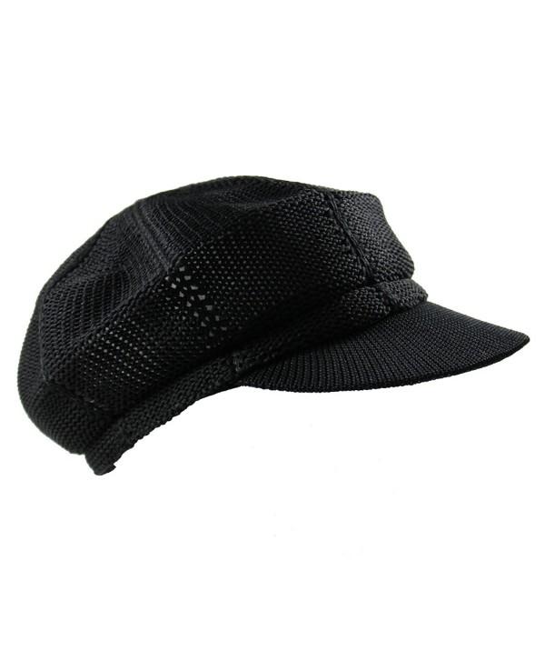 NY Summer Mesh newsboy Cap - Black - CQ11X7EZ3HX