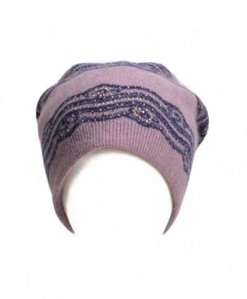 Lawliet Womens Crochet Rhinestone Beanie