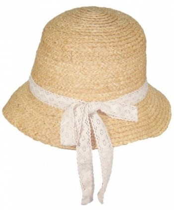 Victoria Natural Raffia Womens Cloche in Women's Sun Hats