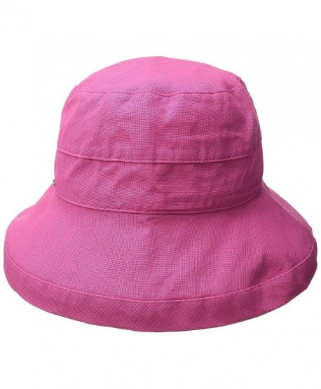 955701d2717 Scala Women s Medium Brim Cotton Hat - Crimson Rose - CW11K4A5HUP