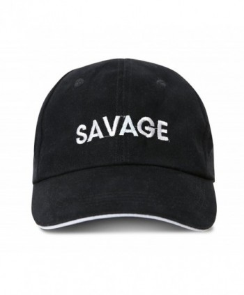 speloop Savage Embroidered Brushed Cotton Adjustable Cap Dad Hat - CI187R0A873