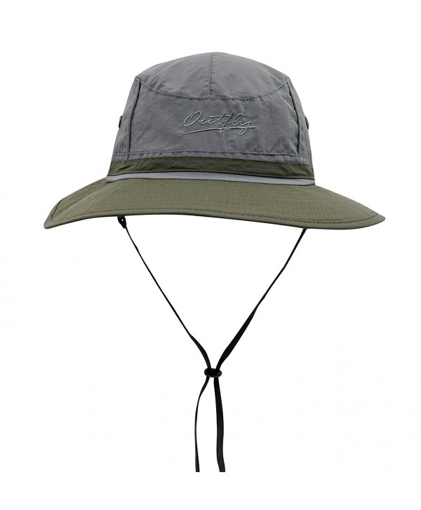 Connectyle Outdoor boonie Fishing Bucket Hat Summer Colorblock Sun Hats Hunting Cap - Dg+ag - CF17XHRL0ID