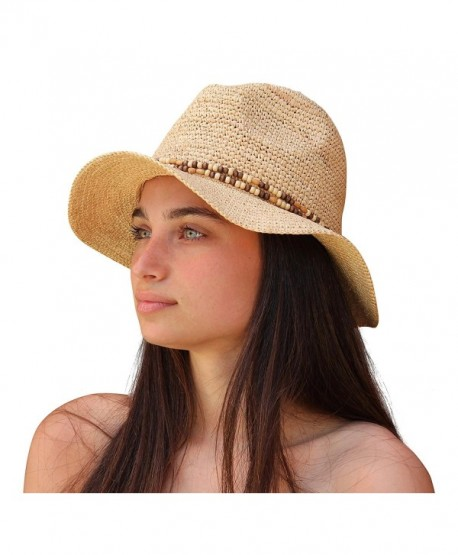 cd938714 Palms & Sand Belize Women's Beaded Raffia Sun Hat (Natural) - CM12H526W5J