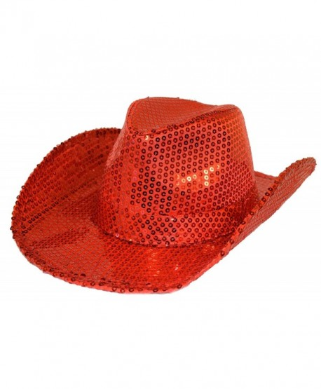 Red Sequin Western Hat Red Hat Ladies Society - C3115H182QD ccfcca1e010
