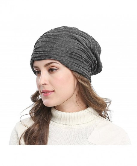 Unisex Women Men Winter Warm Ski Beanie Cap Crochet Skull Hat Grey