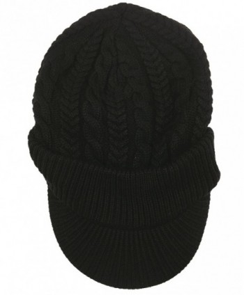 Connectyle Winter Slouchy Knitted Newsboy in Women's Skullies & Beanies