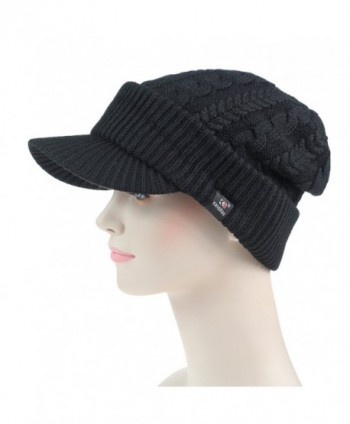 c9a838e9092cee Available. Connectyle Women's Warm Bill Winter Hats Slouchy Cable Knitted  Beanie Cap with Visor ...