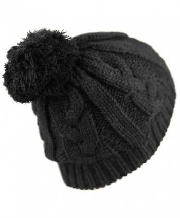 1000CMH Womens Beanie Buttons Stitching Black2