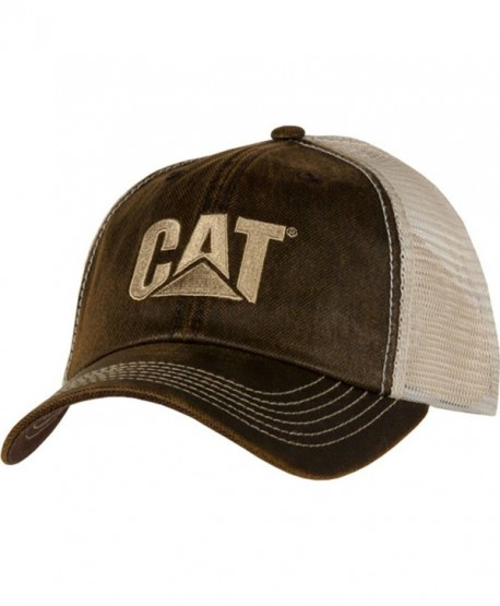 Cat Brown Waxy Mesh Cap - CU12N2ECM8E