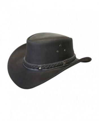 Down Under Leather Hat - Black - CM11FRDJJDV