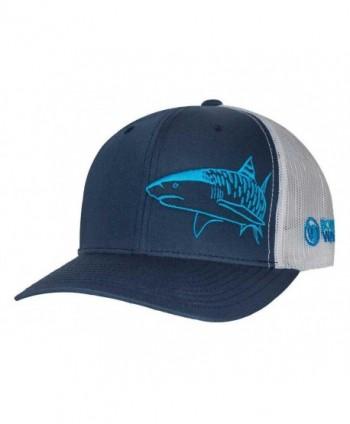 Tiger Shark Hat: Scuba Diving Trucker Cap: Born of Water Apparel - Freediving - Navy - CD11OV9FC97