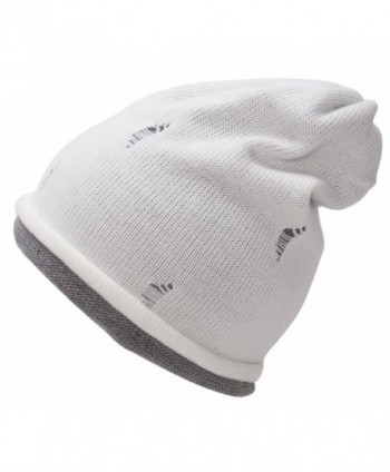 Youth Size Double Layered Beanie - White/Melange Grey - CM11RIMUN75