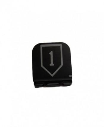 1st Infantry Division Patch Laser Etched Hat Clip Black - C812GDBRFXV