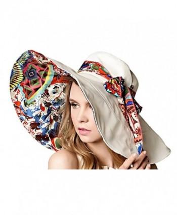Bienvenu Women's Large brimmed Summer Hat Foldable Garden Beach UV Protective Sun Hat - Beige - CP124OJDK0V