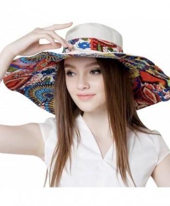 7661a014 Bienvenu Women's Large brimmed Summer Hat Foldable Garden Beach UV  Protective Sun Hat - Beige -; Bienvenu Womens Protect Summer Beach ...