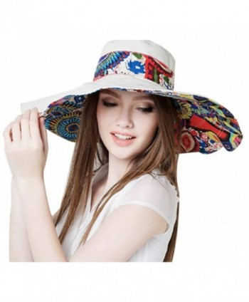 76d7b867 Women's Large brimmed Summer Hat Foldable Garden Beach UV Protective ...