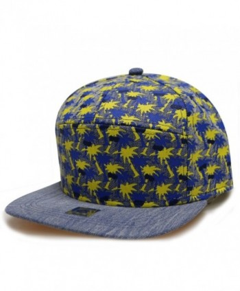 City Hunter Cs371 Denim Anchor 7 Panel Snapback Hats - 3 Colors - Cs420 Yellow - C6182IZ64L5