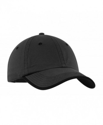 Port Authority Vintage Washed Contrast Stitch Cap- OSFA- Charcoal/Black - CQ111ZB5KJB
