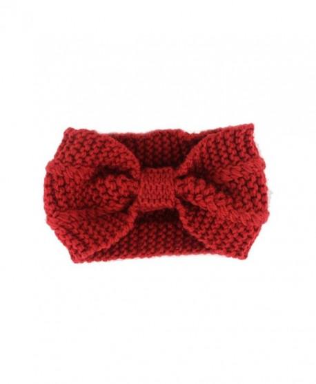 Sporealth Headband Warmer Headbands Knitted - Red - CN12NYYQQ09