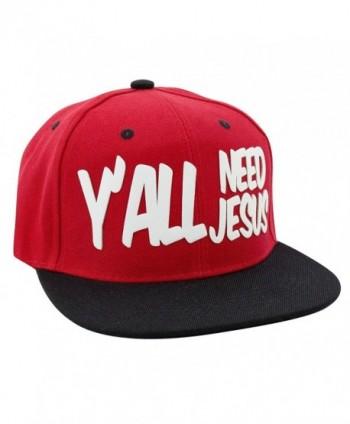 Y'ALL NEED JESUS 3D Logo Snapback Baseball Hat - CQ1284WTV9X