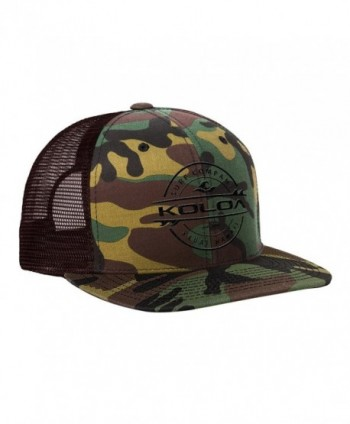 Koloa Surf - Thruster Surfboard Logo Mesh Back Trucker Hats in 12 Colors - Camo With Black Embroidered Logo - CJ12CD9SN83