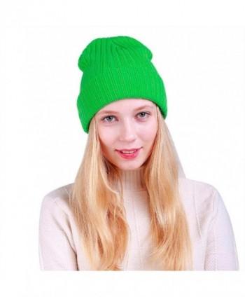 Iuhan Women Warm Baggy Weave Crochet Winter Wool Knit Ski Beanie Skull Caps Hat - Green - CC186AO2AIM