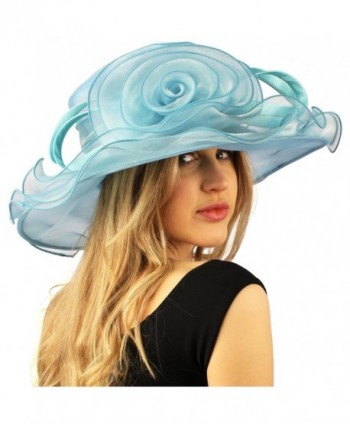 Darling Flower Ruffle Organza Hat in Women's Sun Hats