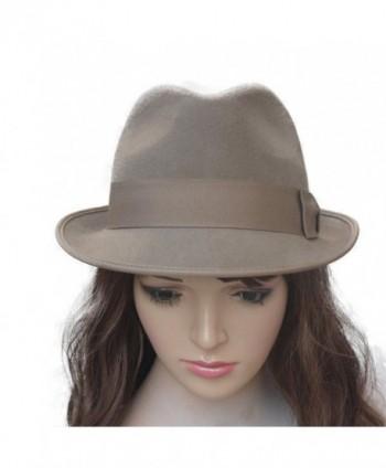 0c5bf739cc1 Lawliet Vintage Style Womens Unisex Wool Felt Fedora Homburg Trilby Hat  A378 - Camel - C912MXNP3RW
