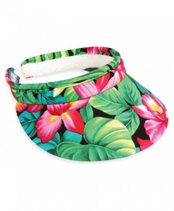 Town Talk Headwear 3inch Tropical Garden Clip on Visor - CF12HRRJHOF