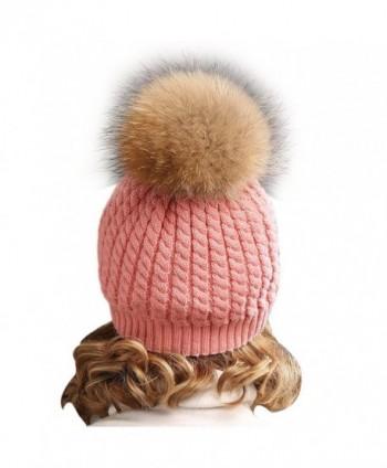 ... Winter Knitted beanie Fur Raccoon Crochet in Women s Skullies   Beanies 1c92d8a6ae4