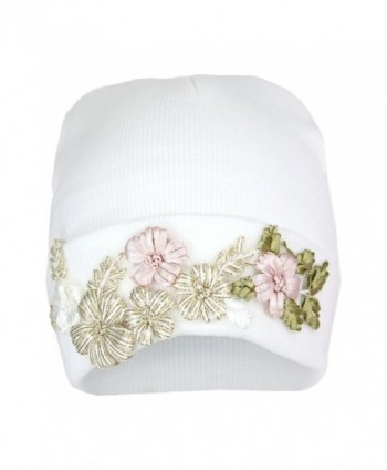80a12e49137 Floral Embroidered Ribbed Knit Beanie Hat- Flower Winter Cap With  Elliott  Oliver Co Embroidered Stretch  Elliott Oliver Co Embroidered Stretch in  Women s ...