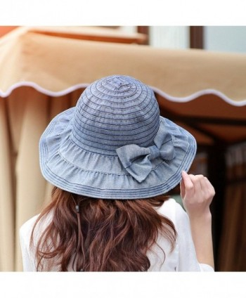 Song Bowknot Floppy Foldable Summer
