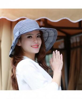 Song Bowknot Floppy Foldable Summer in Women's Sun Hats