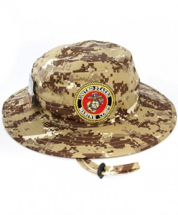 US Marine Corps Official Licensed Military Boonie Bucket Sun Hat Desert Camo - CZ12JFSPG17