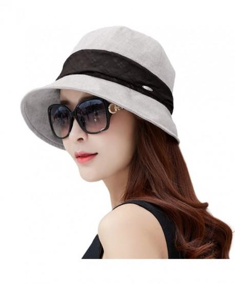 26e92d2d786b9 SIGGI Womens UPF50+ Summer Sunhat Bucket Packable Wide Brim Hats w Chin  Cord - 89045 gray