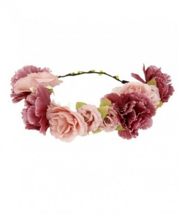 Tinksky Flower Wreath headband Floral Garland Crown Hair Accessories for Wedding Anniversary Party - CW12K8H6695