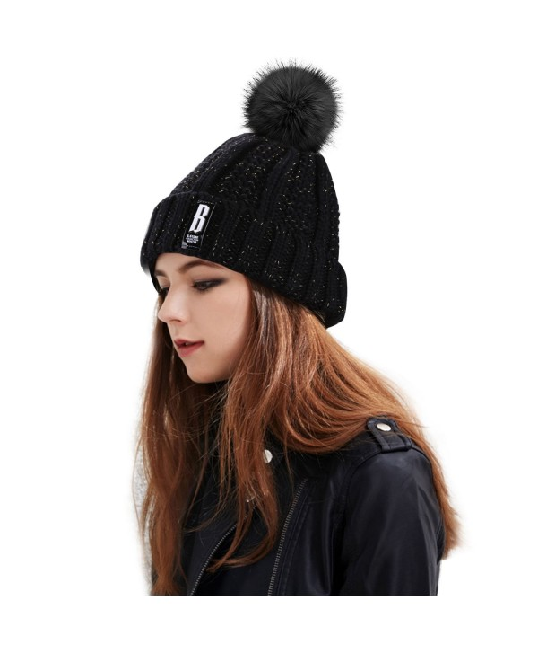 Womens Winter Beanie Proking Slouchy - Black001 - CM1887U59GM
