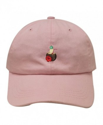 City Hunter C104 Coconut Drink Cotton Baseball Dad Cap 19 Colors - Pink - C81836R0708