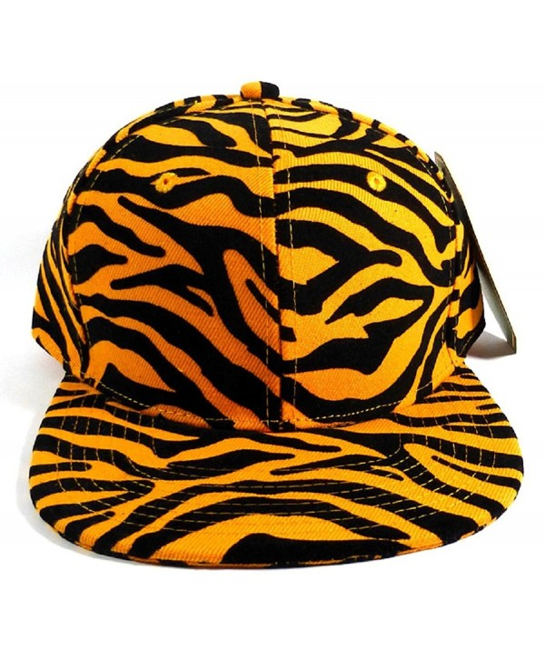 Orange & Black Tiger Print Snapback - CB11VXEVSYV